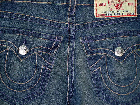 TRUE RELIGION RICKY SUPER T ストレートデニム